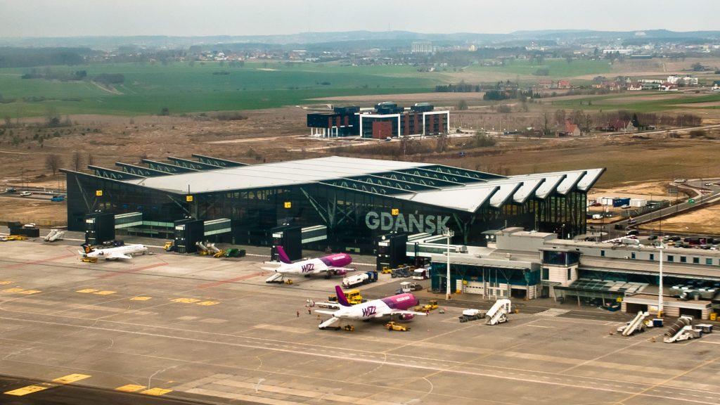 Аэропорт Гданьска - вид сверху