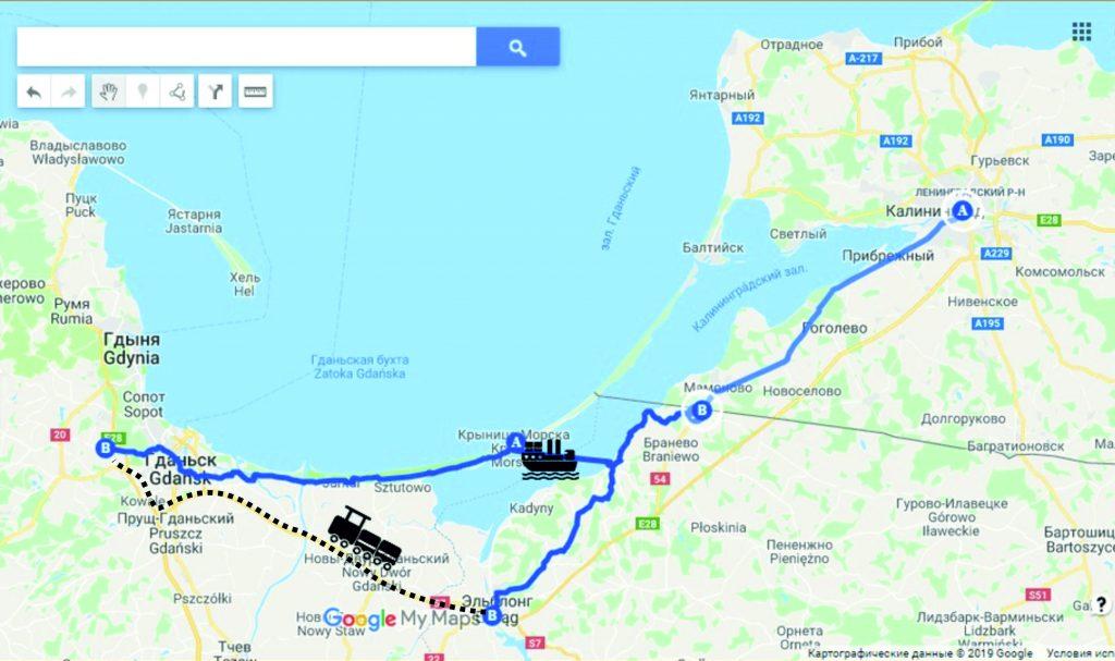 Карта - в Польшу на велосипеде